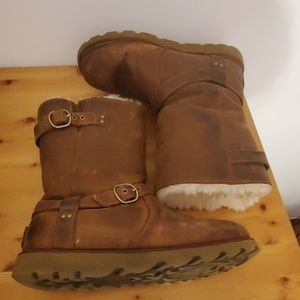 Rugged leather Uggs